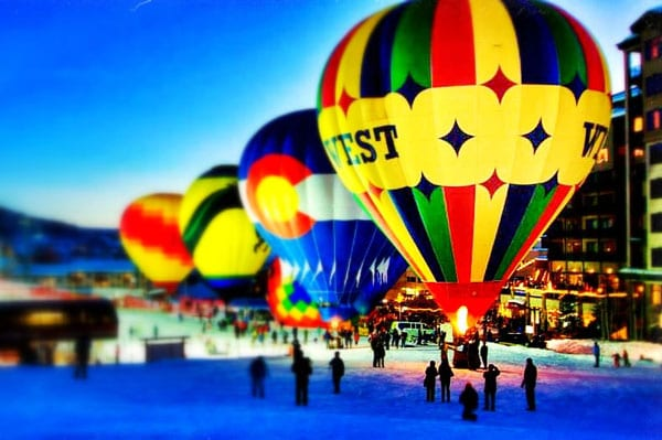 Balloon Glow Event at Steamboat Springs Ski Area