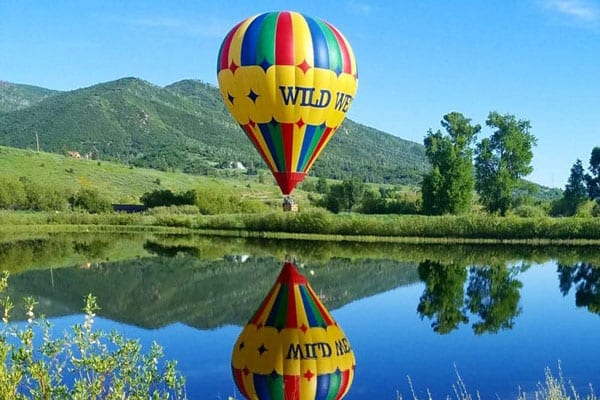 The Wild West Balloon Lake Reflection