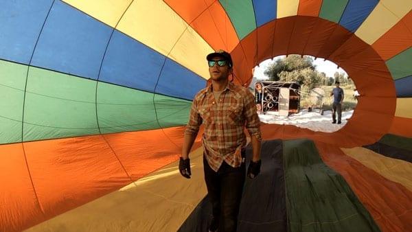 Inside the Wild West Hot Air Balloon