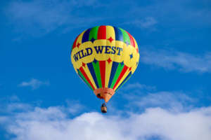 Wild West Hot Air Balloon in flight