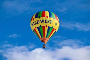 Wild West Hot Air Balloon in flight